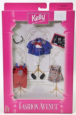 KELLY BABY SISTER OF BARBIE FASHION AVENUE CLOTHES SCHOOL OUTFIT NRFB