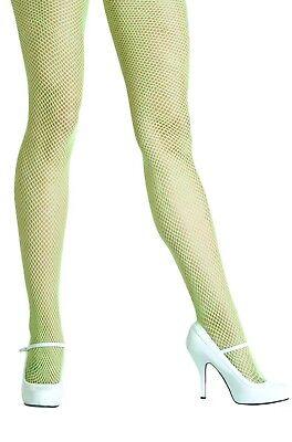 Leg Avenue 9001A Neon Green Fishnet Pantyhose (Neon Fishnet Leggings)
