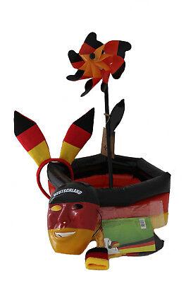 WM Fanpaket Deutschland Fußball Kühler,Maske,Haarreif,Windrad,Armband, Autofahne