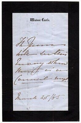 Queen Victoria - Autograph Letter Signed - Convenes Her Privy Council - JSA LOA