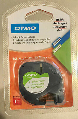 Dymo 2-pack White Paper Lt Labels 12 X 13 12mm X 4m Label Refills