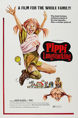 """""""PIPPI LONGSTOCKING"""" ...Classic 1969 Family Movie Poster A1A2A3A4Sizes"""