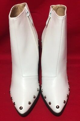 Nastygal Women's White Best Of The West Studded Boot Size UK 4/ US (7-