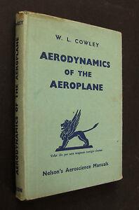 Book-Aerodynamics-Of-The-Aeroplane-W-L-Cowley-1943-1st-Edition