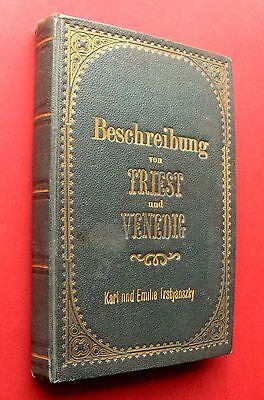1884 Handschrift + Fotos - REISEBESCHREIBUNG  ZAGREB  TRIEST VENEDIG   LJUBLJANA