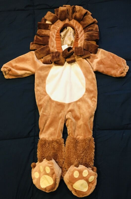 Infant Baby Lion Costume Brown ~Hooded & Soft With Silky Lining 6 - 12 Month