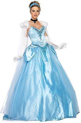 Adult Movie Disney Princess Cinderella Enchanting Deluxe Ballroom Dress Costume