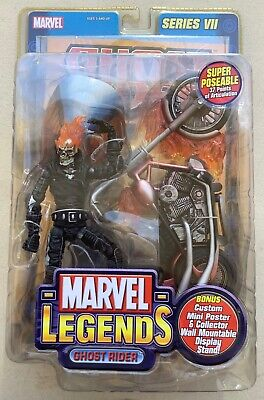 Marvel Legends GHOST RIDER Figure with Bike Series 7 New and Sealed 2004 Toybiz