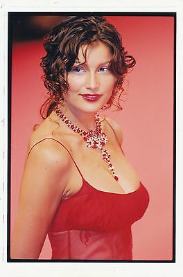 1997 Vintage Photograph Fashion Glamour Magazine LAETITIA CASTA