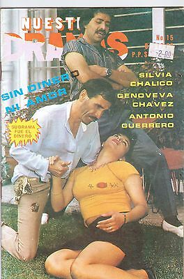 FOTONOVELA MEXICO, Nuestros Dramas, SILVIA CHALICO, GENOVEVA CHAVEZ TV Y NOVELAS