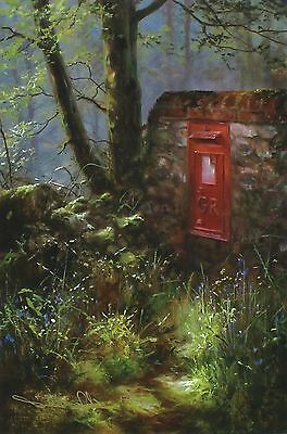"DAVID DIPNALL ""Spring Message"" postbox SIGNED LTD ED! SIZE:41cm x 29cm NEW RARE"