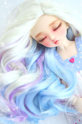 """Winter Fairy"" DOLL WIG (6-7) - BJD Littlefee Minifee YoSD Unicorn Fantasy - ©BC"