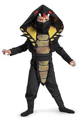 Boys Cobra Ninja Costume Asian Snake Samurai Fighter Child Toddler Kids Black