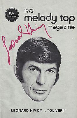 "Leonard Nimoy (Signed) ""OLIVER!"" Lionel Bart 1972 Milwaukee Autographed Playbill"