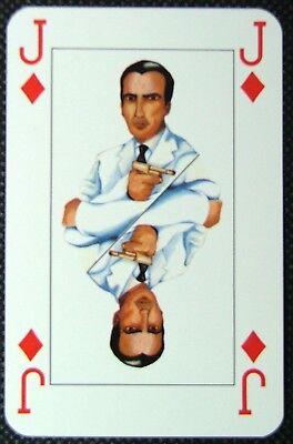 1 x playing card Scaramanga Man with golden gun 007 James Bond Jack Diamonds