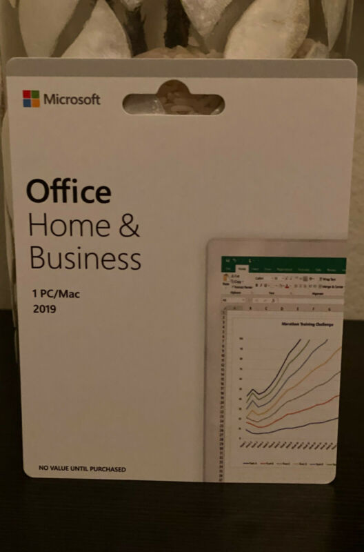 Microsoft Office Home and Business 2019 Windows Mac 1 PC Key CARD T5D-03203