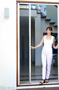 Diy Retractable Single Fly Screen French Door Aluminium