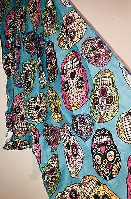 Sugar Skulls Scarf Day of the Dead Día de Muertos  Halloween 11