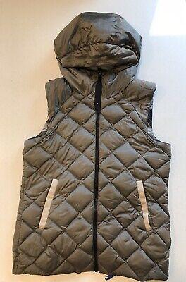 LULULEMON The Fluffiest Vest Cashew Coast Camo Reversible Goose Down Size 10