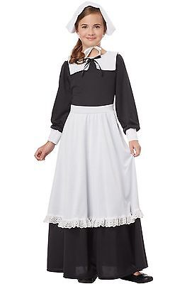 Pilgrim Costume Girl (Pilgrim Girl Columbus Day Thanksgiving Child)