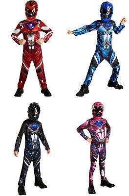 Power Ranger  Kinder Lizenz  Print Kostüm Kids Fasching (Power Ranger Kostüm Kinder)