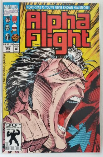 ALPHA FLIGHT #106 NORTHSTAR COMES OUT AS GAY 1St PRINT 1992 MARVEL COMICS