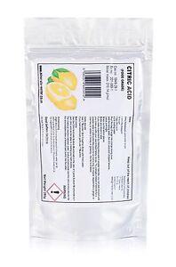 Acide Citrique 250g qualité alimentaire de qualité