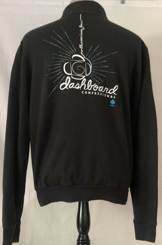 Dashboard Confessional 2006 Dusk To Summer Tour Black Zip Up Sweatshirt XL