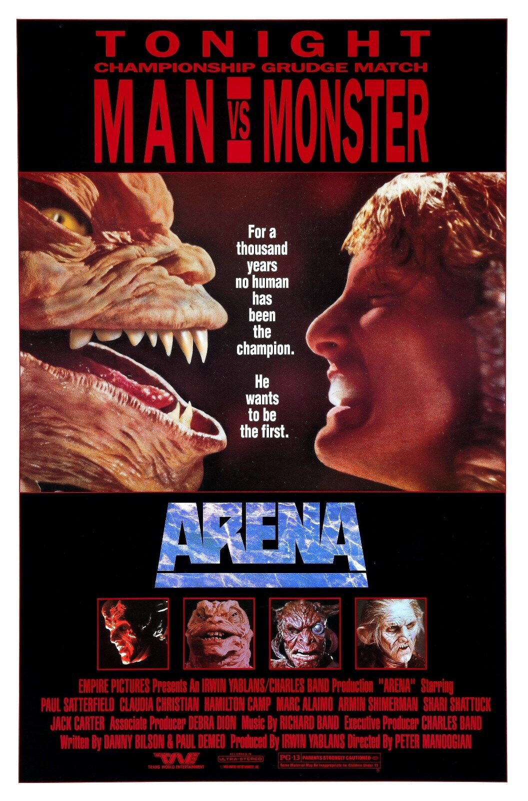 ARENA  ORIGINAL MOVIE POSTER  -  ROLLED
