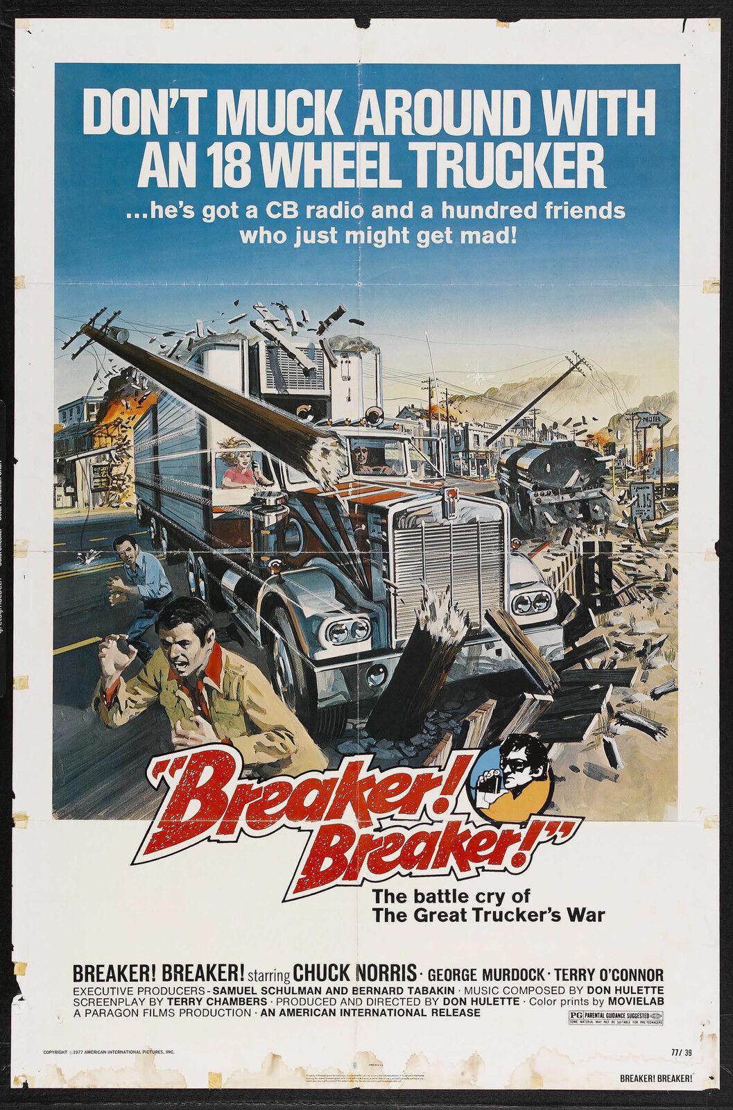 grindhouse poster template - breaker breaker movie poster 1977 chuck norris grindhouse