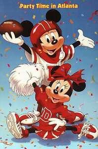 Mickey-and-Minnie-love-the-game-of-Football-Atlanta-Walt-Disney-Postcard