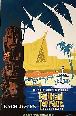 Tahitian Terrace Restaurant Official Disneyland Attraction Poster 12 X 18