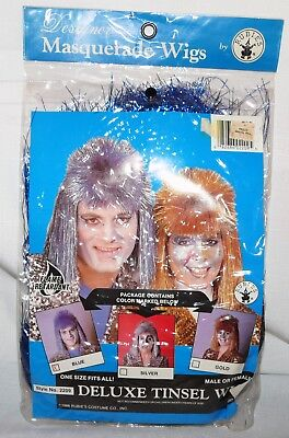 Halloween Gold Tinsel Wig Superstar Wig Rubies Costume New Quality Punk Rock - Gold Tinsel Wig