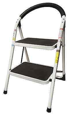2 Step Ladder Lightweight Folding Stool Heavy ...
