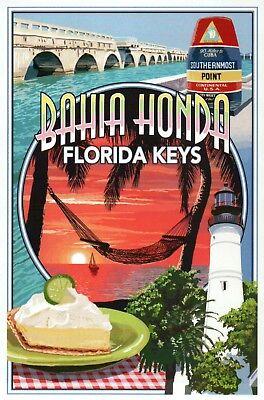 Bahia Honda Florida Keys Montage Southernmost Point Lighthouse - Modern Postcard