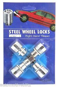 MAG Wheel Lock Nuts with washers Set of 4 + key