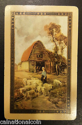 Rural Life King Of Hearts Vintage Playing Card