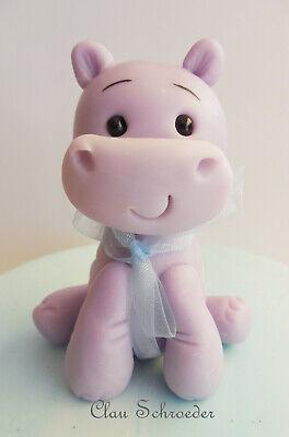 Hippo Nilpferd Safari Figur Cake Topper Tortenfigur Deko Baby Kindergeburtstag