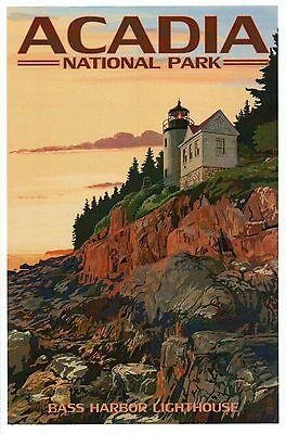 Bass Harbor Lighthouse, Acadia National Park, Maine, ME Light -- Modern Postcard