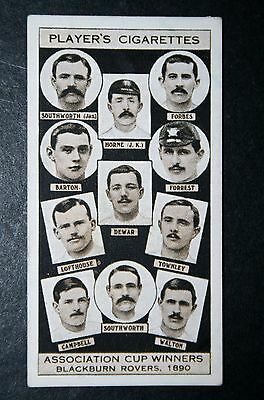 Blackburn Rovers  1890   FA Cup Winning Team  Vintage 1930's Card  # VGC