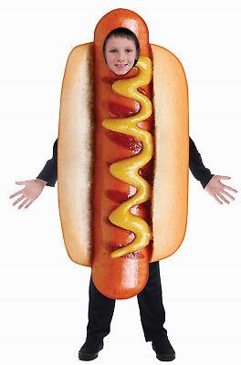 Kids Hot Dog Costume Photo Realistic Food Costume Child One Size