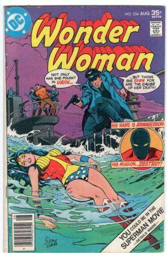 WONDER WOMAN #234 ARMAGEDDON DC COMICS 1977 VF-