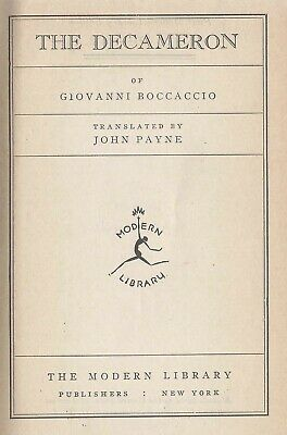 Giovanni Boccaccio The Decameron First Modern Library