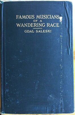 Signed Jewish Musicians Book  Famous Musicians Of A Wandering Race 1927 Saleski