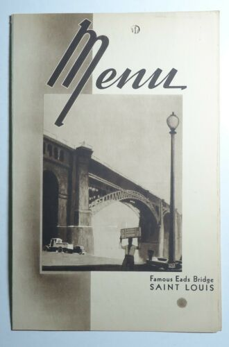 New York Central Railroad 1943  Folder Menu -  St Louis  Cover