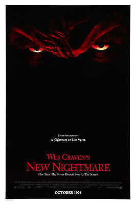 NEW NIGHTMARE Wes Craven A NIGHTMARE ON ELM STREET Movie POSTER Horror Freddy