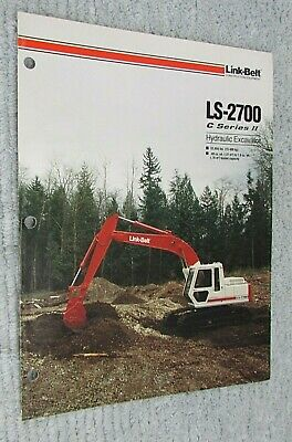 Vintage 1990 Link Belt Hydraulic Excavator Brochure Ls 2700 C Series Ii Free Sh
