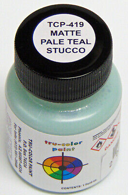 MATTE PALE TEAL STUCCO TRU-COLOR AIR BRUSH REDY PAINT HO O On30 Model RR TCP4192