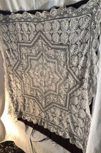 Bobbin Lace Table Cloth Possibly Maltese