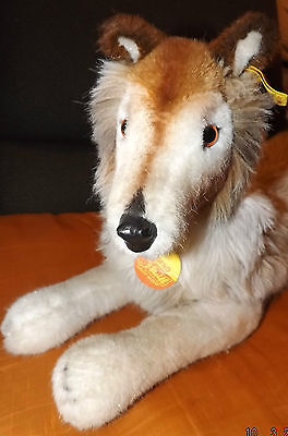 Steiff 4090/40 Hund Collie CORSO 40 cm,unbespielter Zustand Knopf, Schild, Fahne